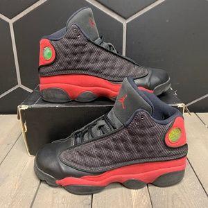 2013 Youth Air Jordan 13 Bred Black Red Shoe 7Y
